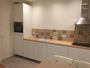 A kitchen or kitchenette at de Koepeltjes - double appartments with kitchen, front garden & terrace