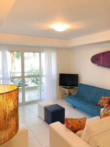 A seating area at Casa Triplex em Angra dos Reis