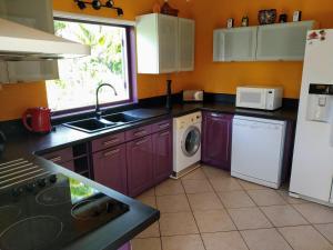 A kitchen or kitchenette at Villa & Bungalow Fleur de Coco