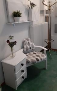 Ett badrum på Piteå Vandrarhem