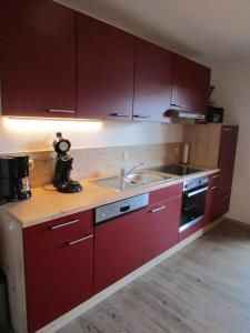 Kuchyň nebo kuchyňský kout v ubytování Ferienbauernhof Köpf