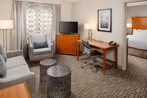 A television and/or entertainment center at Homewood Suites by Hilton Portsmouth