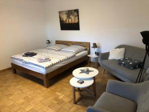 Ein Bett oder Betten in einem Zimmer der Unterkunft Am Grünenplatz 65