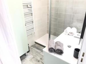 A bathroom at Appartement 3 pieces, refait a neuf, haut standing, piscine, mer a pieds