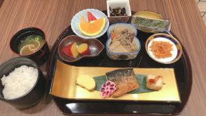 Breakfast options available to guests at S.Training Center Hotel Osaka