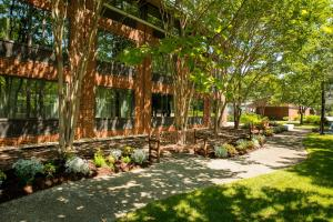 A garden outside Williamsburg Woodlands Hotel - A Colonial Williamsburg Hotel