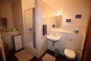 Ein Badezimmer in der Unterkunft Herrenhaus Hohewarte