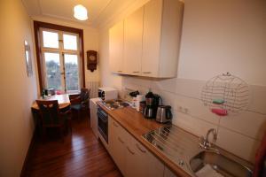 Küche/Küchenzeile in der Unterkunft Herrenhaus Hohewarte