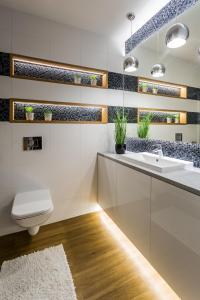 A bathroom at RN Apartamenty Jagiellońskie