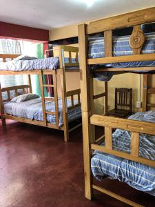 A bunk bed or bunk beds in a room at Hostal Campo Base Huaraz