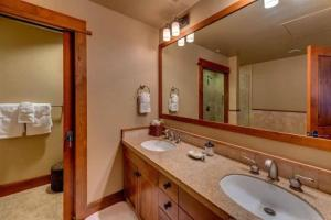 A bathroom at East West Hospitality at Tahoe