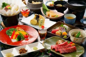 อาหารเช้าซึ่งให้บริการแก่ผู้เข้าพักที่ Satsuki Bessou
