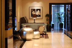 The lobby or reception area at Hotel Trusty Tokyo Bayside