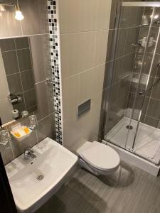 Kúpeľňa v ubytovaní Penzión Sport
