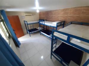 A bunk bed or bunk beds in a room at Moto Hostel Roncador