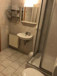 Ein Badezimmer in der Unterkunft Ferienwohnung Gisela Kästner Stolpen