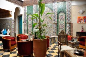 The lobby or reception area at Riad l'Escale de Marrakech