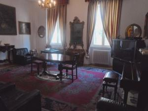 A seating area at Hotel Paisiello Parioli
