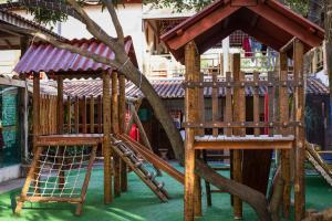 Children's play area at Pousada Bixu de Pé