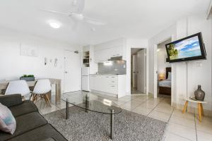 A television and/or entertainment center at Sandcastles Mooloolaba