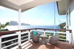 A balcony or terrace at Matinloc Resort