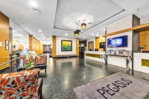 The lobby or reception area at Pegasus Apart-Hotel