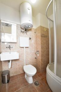 A bathroom at Hostel Milkaza