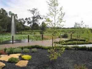 A garden outside Wild Cattle Creek Estate