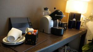 Coffee and tea making facilities at The Big Blue Hotel - Blackpool Pleasure Beach