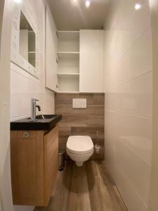 A bathroom at Seadream