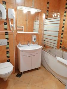 A bathroom at Hotel Pleso