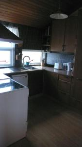 A kitchen or kitchenette at Gemlufall guesthouse