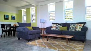 A seating area at Cloud9 Dominica Boutique Hotel