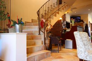The lobby or reception area at Bizev Hotel