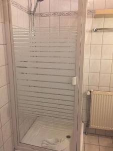 Ein Badezimmer in der Unterkunft Ferienhof Pankalla
