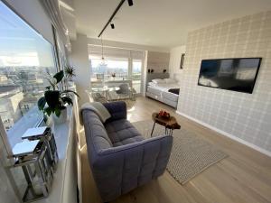 Posezení v ubytování Leo Apartment