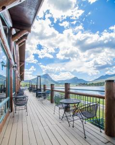 A balcony or terrace at The Estes Park Resort