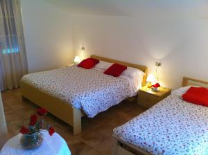 A bed or beds in a room at Residence Geranio