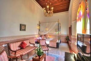 Zona de estar de Riad El Amine Fes