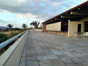A balcony or terrace at Hotel Encosta da Serra