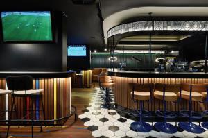 De lounge of bar bij HUP
