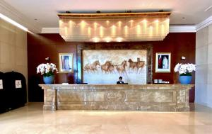 The lobby or reception area at Millennium Hotel Doha