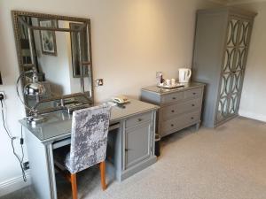 A bathroom at De Rougemont Manor