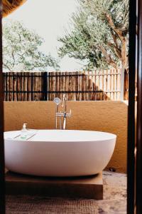 A bathroom at Mopane Bush Lodge