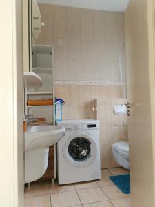 Ein Badezimmer in der Unterkunft Zimmervermietung Aras