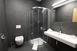 Koupelna v ubytování Hotel Smetanova