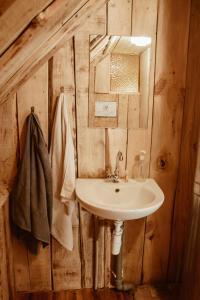 Vonios kambarys apgyvendinimo įstaigoje Sunny nights Mini Hostel