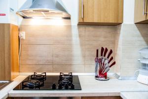 A kitchen or kitchenette at Apartament Confort Calea Turzii