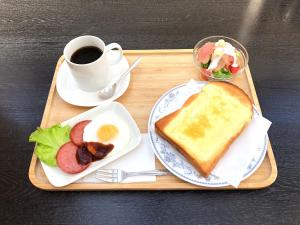 Breakfast options available to guests at Capsule Inn Osaka (Male Only)