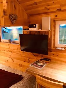 A television and/or entertainment center at le gîte de la ferme du tertre